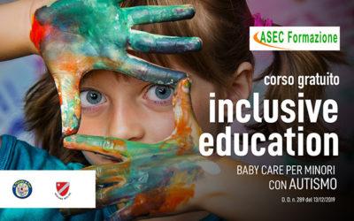 """Graduatorie percorso formativo """"INCLUSIVE EDUCATION – BABY CARE PER MINORI CON AUTISMO""""  – Determina Dirigenziale n. 289 del 13/12/2019"""
